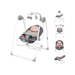 Lorelli Babywippe Babywippe elektrisch Tango 2 in 1, Fernbedienung, MP3, Timer, Mobile rosa 70 cm x 100 cm x 90 cm