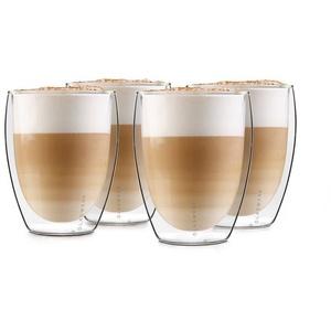 Klarstein Thermoglas Glaswerk Jesolo doppelwandige Thermogläser 350 ml handgemacht Borosilikatglas, Borosilikatglas