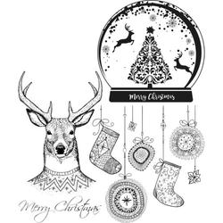 "Fensterschablone ""Merry Christmas"", transparent - transparent"
