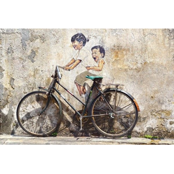 Street Art mit Fahrrad