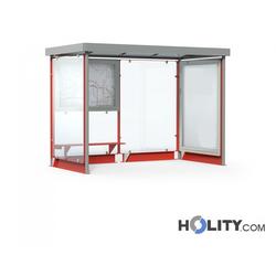 Überdachung Bushaltestelle mit Sitzbank h140_341