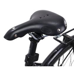 Gusti Leder Fahrradsattel Mark C., Fahrradsattel Ledersattel Vintage-Sattel Retro-Sattel mit Löchern Fahrrad Braun Leder schwarz