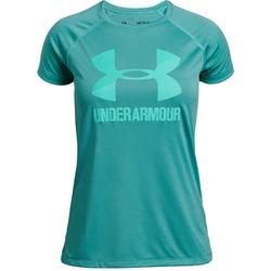 Under Armour Tech Big Logo Solid - T-Shirt - Kinder Light Blue