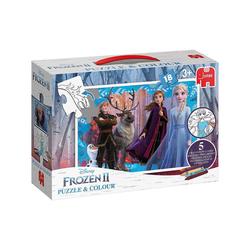 Jumbo Puzzle-Tasche Puzzle & Colour - Die Eiskönigin 2 (18 Teile)