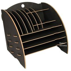 WERKHAUS® Briefablage Werkhaus - Ablage Big Organizer Grau Briefablage Stiftehalter Schreibtisch