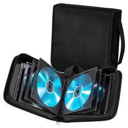 hama 40er CD-/DVD-Tasche Wallet schwarz