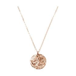 Gemshine Collier Vintage Münze LION Löwe, 925 Silber rosa