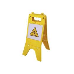 Warnaufsteller Warnschild individuell - mit Klemmlaschen gelb - 30x58cm klappbar