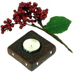 Guru-Shop Windlicht Kerzenhalter, Teelichthalter Keramik Nr.2