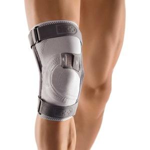 Bort Asymmetric® Plus Kniebandage Knie Gelenk Stütze Bandage Kniegelenkbandage, Rechts, L