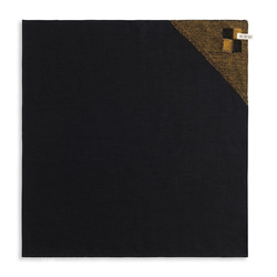 Knit Factory Geschirrtuch Geschirrtuch Block Schwarz/Ocker, (Mode)