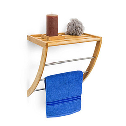 relaxdays Handtuchhalter   braun