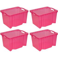 keeeper Aufbewahrungsbox franz (Set, 4 Stück) rosa