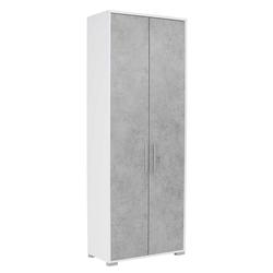 Abschließbarer Ordnerschrank in Grau und Weiß 80 cm breit