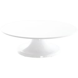 SCHNEIDER Tortenplatte aus Melamin, drehbar, Ø 32 cm, Kuchenplatte aus bruchfestem Melamin, Farbe: weiß, Höhe: 100 mm