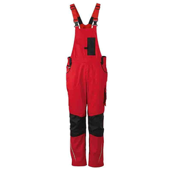 Workwear Latzhose CORDURA® - (red/black) 44