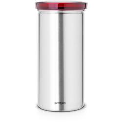 Brabantia Senseo® Kaffeepaddose, Hochwertige Kaffeekapseldose für die aromaerhaltende Aufbewahrung, Farbe: roter Deckel
