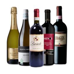 Tasting wine box - 5 Flaschen für eine italienische Verkostung