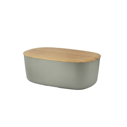 Stelton Brotkorb RIG-TIG Brotkasten BOX-IT, warmgrau, Melamin, Bambus