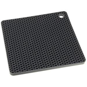KOCHBLUME Waben-Untersetzer Quadrat ANTHRAZIT Silikon Topflappen