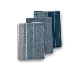 Kela Geschirrtücher Pasado jeansblau 3er Set , 100% Baumwolle