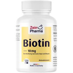 BIOTIN 10 mg Kapseln hochdosiert 120 St