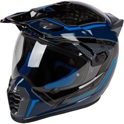 Klim Krios Pro Mekka Carbon Motocross Helm, blau, Größe L