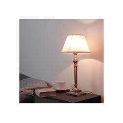 Licht-Erlebnisse Tischleuchte ABAT-JOUR 166 Nachttischleuchte Messing helles Bronze Jugendstil Lampe