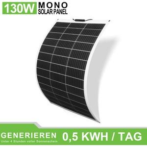 130W 260W 520W Flexibles Mnokristallines Photovoltaik-Solarpanel