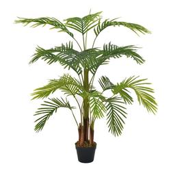 Kunstpflanze vidaXL Künstliche Pflanze Palme Kunstpflanze Deko Topfpflanze, vidaXL, Höhe 120 cm 120 cm
