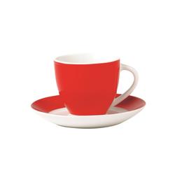 Van Well Untertasse Vario in rot, 14,5 cm