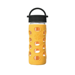 Lifefactory Trinkflasche gelb