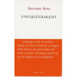 Unverfügbarkeit als Buch von Hartmut Rosa