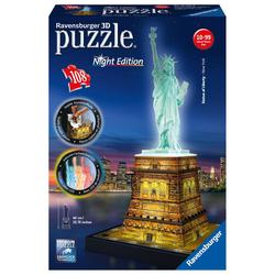 Freiheitsstatue bei Nacht. 3D Puzzle 108 Teile