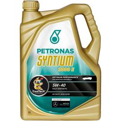 PETRONAS Motoröl Syntium 3000 E 5 W - 40 goldfarben 5 l