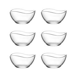 LAV Dessertschale Glasschalen, Dessertschalen, Glas, (6-tlg)