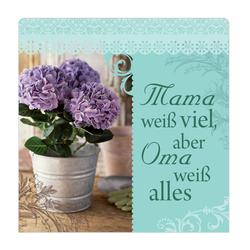 """H&H Romantisches Geschirrtuch """"Mama weiß viel..."""" Handtuch"""
