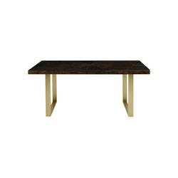 KARE Esstisch Tisch Conley Messing 180x90 grau