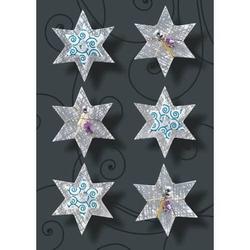 Weihnachts-Sticker 3D Handmade Silver Shine 1 Blatt