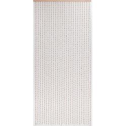 Türvorhang Türvorhang Dehli Vorhang Perlenvorhang Holzperlenvorhang Raumteiler Dekovorhang, CONACORD, handgearbeitet und lackiert