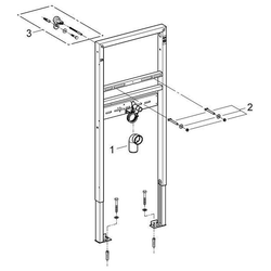 Grohe Waschtischbefestigung Rapid SL, für Waschtisch-Montage