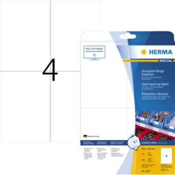 Herma 4697 Etiketten (A4) 105 x 148mm Weiß 100 St. Extra stark haftend Folien-Etiketten