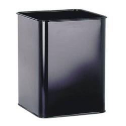 Papierkorb Metall eckig 18,5l schwarz