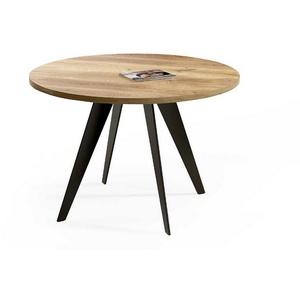 Tischhelden Esstisch Esstisch, runde Form, Massivholz Eiche