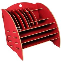 WERKHAUS® Briefablage Werkhaus - Ablage Big Organizer Rot Briefablage Stiftehalter Schreibtisch