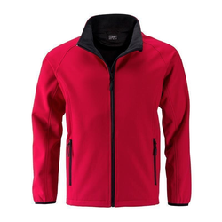 Herren Softshelljacke | James & Nicholson red 3XL