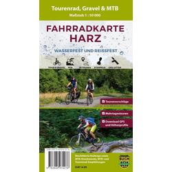 Fahrradkarte Harz 1 : 50 000