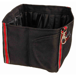 TRIXIE Futternapf Reise-Trinknapf für Hunde aus Polyester, faltbar, schwarz, 1,8L, 100% Polyester