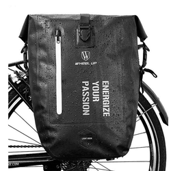 WHEEL UP Fahrradtasche Pack- Gepäckträgertasche Fahrradtasche 100% Wasserdicht 20/27L, schwarz