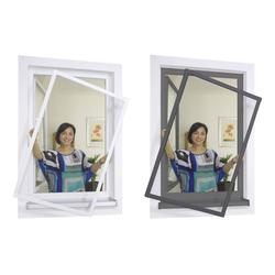 Insektenschutz-Spannrahmenset Premium für Fenster 100 x 120 cm, Farbe weiß